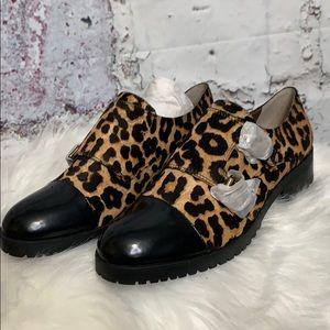 Sam Edelman leopard print ankle boot shoes 8.5